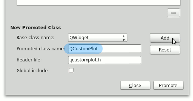 Qt Plotting Widget QCustomPlot - Setting Up